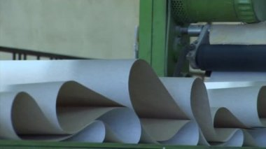 Plant for the production of paper products — Stock Video