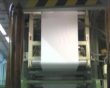 Plant for the production of paper — Stock Video