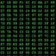 Hexadecimal code on computer screen. — Stock Video