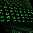 Green Hexadecimal code running up — Stock Video