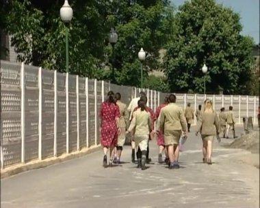 The Russian women's prison. — Stock Video