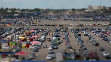 Car Market. Tilt Shift — Stock Video