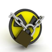 Radiation is locked — Stock Photo