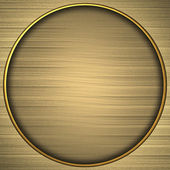 Background gold circle with the texture of the gold — Stock Photo
