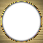 Background gold circle with the white texture — Stock Photo