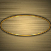 Background gold circle with the texture of the gold — Stock fotografie