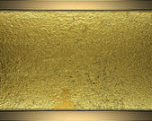 Gold grunge texture with gold decorative edges. Template design — Stock Photo