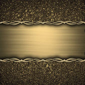 Gold background with gold texture stripe layout — Stock Photo