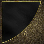 The black triangle on a background of sand. Design template — 图库照片