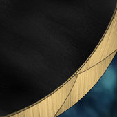 Black and blue background divided by a gold stripe — Stock Photo