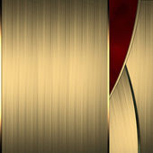 Gold background with a beautiful red cut — Stock Photo