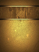 Gold wooden texture with golden name plate — Stock Photo