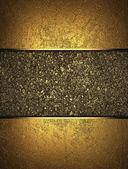 Złote tło z złota tabliczka do pisania — Zdjęcie stockowe