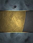 Modré pozadí s identifikačním zlaté pozadí pro psaní. — Stock fotografie