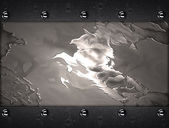 Abstract metal background with a iron plate on edges — 图库照片