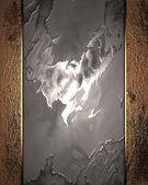абстрактный фон металла с гранж золото краями — Стоковое фото