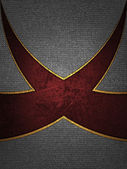 Design template. Beautiful iron background with red cut. — Stock Photo
