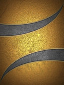 Design template. Golden background with metal cut. — 图库照片