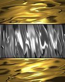 Όμορφο χρυσό φόντο με μια ονομαστική μέταλλο για το γράψιμο. — Φωτογραφία Αρχείου
