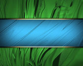 Beautiful green Background with beautiful blue nameplate. — Stock Photo