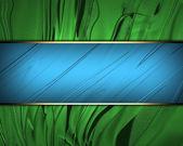 Beautiful green Background with beautiful blue nameplate. — Stock Photo