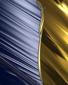 Design template. Blue abstract background with a gold nameplate. — Stock Photo