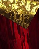Red Background with beautiful gold nameplate. — Stock Photo