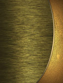 Two gold background divided gold band. Nameplate for writing. — Stock Photo