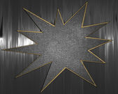 Metal Background with metal star nameplate. — Stock Photo