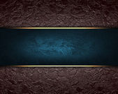 Background with blue nameplate for writing. — Stock Photo
