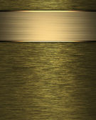 Gold Background with blue nameplate for writing. — Стоковое фото