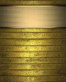 Fondo oro con segno d'oro per la scrittura. — Foto Stock