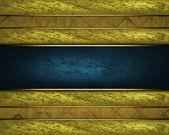Krásné zlaté pozadí s modrými štítku pro psaní. — Stock fotografie