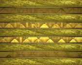 Gold Background with gold nameplate for writing. — Stock Photo