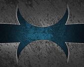 Fondo de metal con patrón azul (placa) de escritura. — Foto de Stock