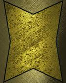 Fondo de oro con placa de oro para la escritura. — Foto de Stock