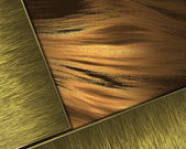 Beautiful Gold Background with gold nameplate for writing. — Stok fotoğraf