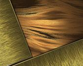 Krásné zlaté pozadí s zlatý štítek pro psaní. — Stock fotografie