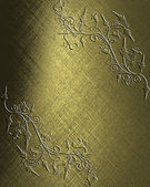 Gold Background with abstract plant pattern. — Stock Photo