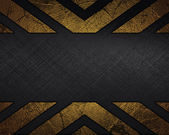 Black Background with abstract Gold pattern and nameplate. — Stock Photo