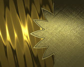 Gold Background with abstract pattern and nameplate for writing. — Stock Photo