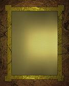 Złote tło z złota tabliczka do pisania. — Zdjęcie stockowe