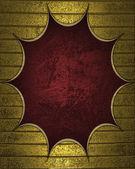 Золотой фон с красной табличке для записи. — Стоковое фото