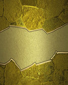 Gold texture wall with crack in the middle. — Foto Stock