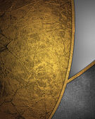 Abstact oro con metal inserta. — Foto de Stock