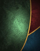 Abstract green background with red and blue inserts. — Stock Photo