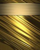 Zlaté pozadí abstraktní s zlatý štítek pro psaní. — ストック写真