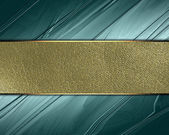 Green Background with gold nameplate for writing. — Stock Photo