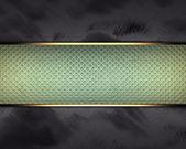 černé pozadí s zelené štítku v bodě pro psaní. — Stock fotografie