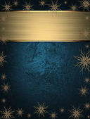 Beautiful Christmas blue background with stars on the edges — Стоковое фото